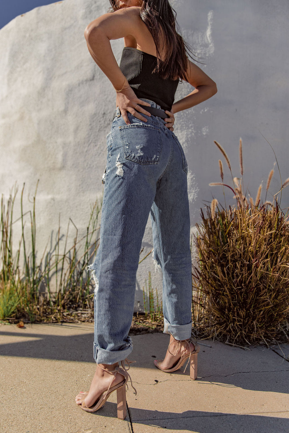 Agolde 90's Mid Rise Loose Fit In Fall Out