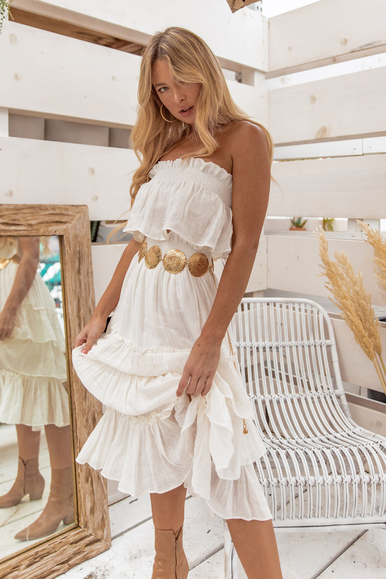 Like The Wind Ruffle Tube Top