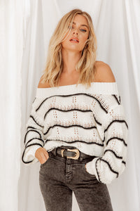 Young At Heart Off The Shoulder Sweater
