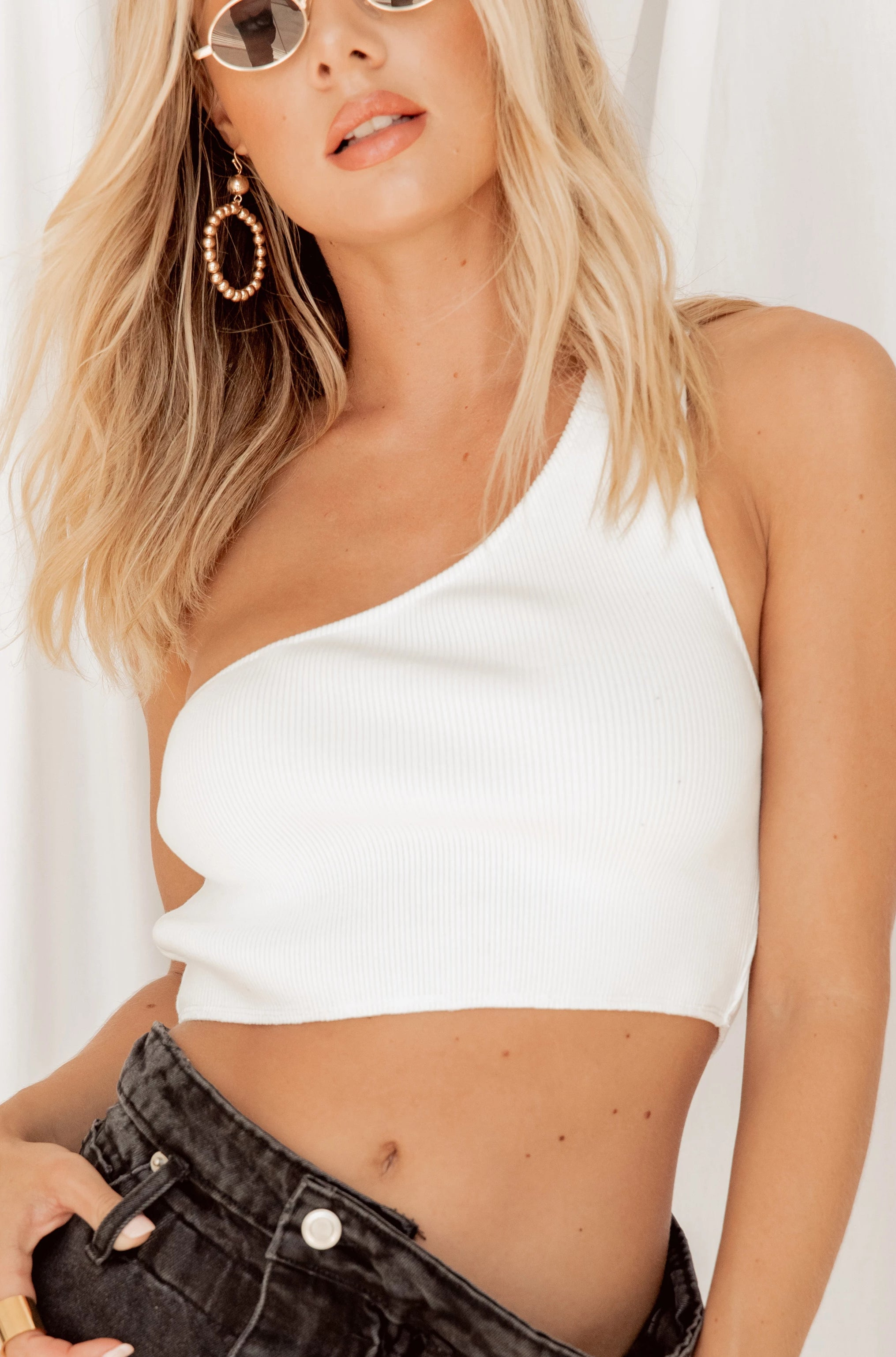 Alexis One Shoulder Crop Top