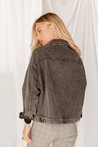Jules Boyfriend Black Denim Jacket