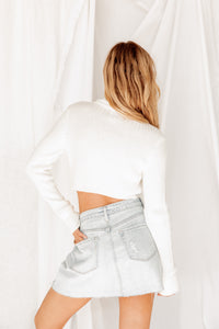All About It Denim Wrap Skirt