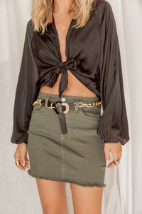 Dream About Me Olive Mini Skirt