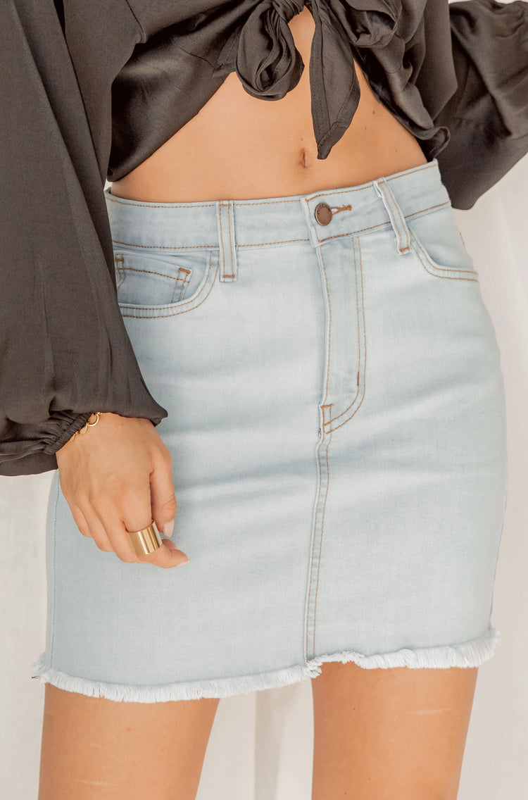 Dream About Me Blue Mini Skirt