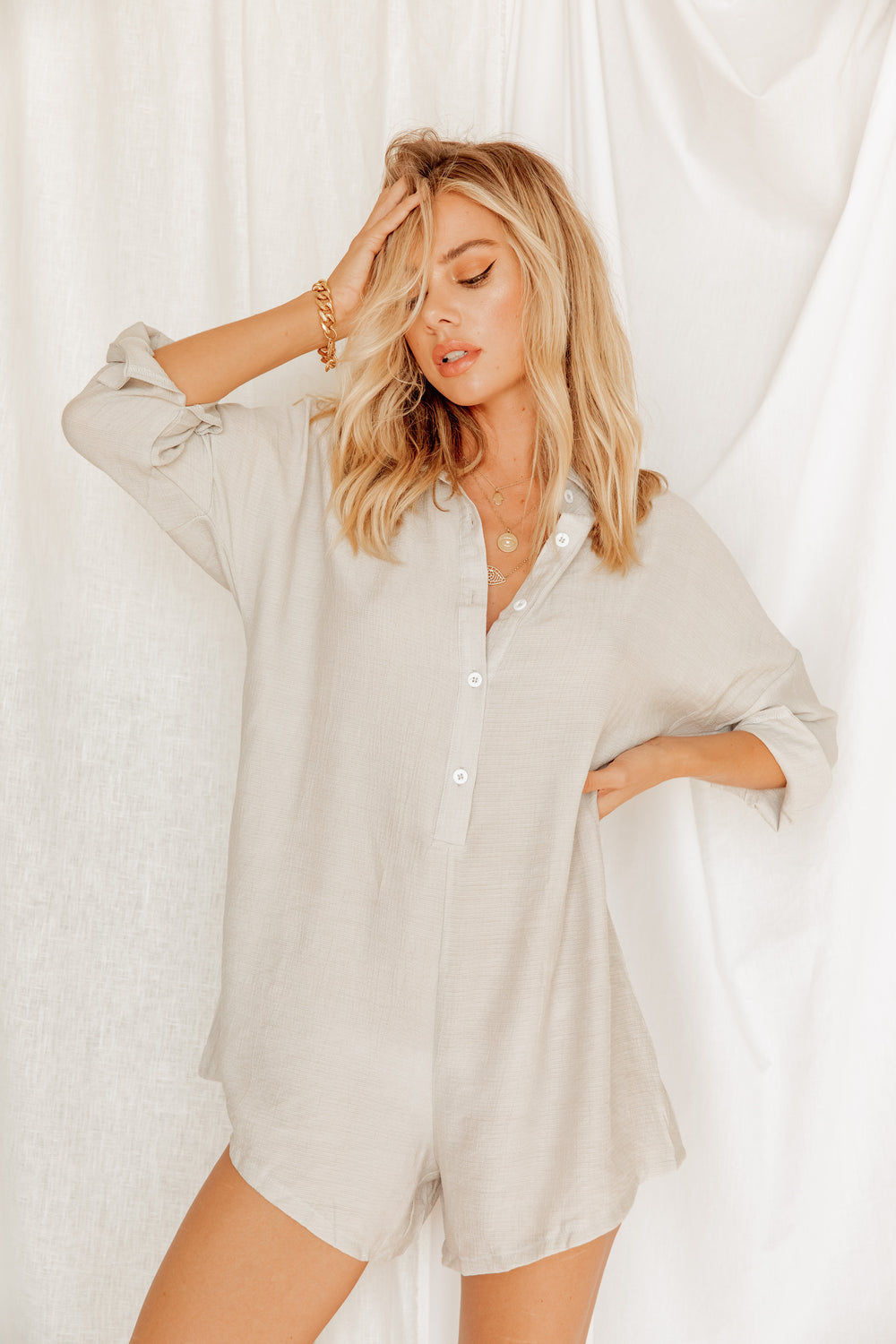 Days With You Grey Romper