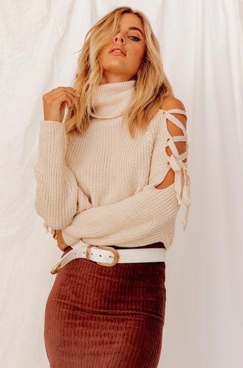 Make It Mine Turtle Neck Crop Sweater