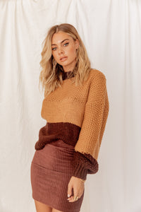 Moscow Nights Color Blocked Sweater