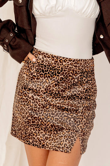 Ready For Love Leopard Mini Skirt