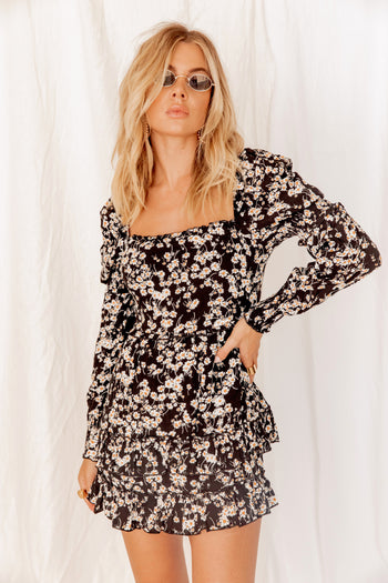 Rumor Has It Floral Mini Dress