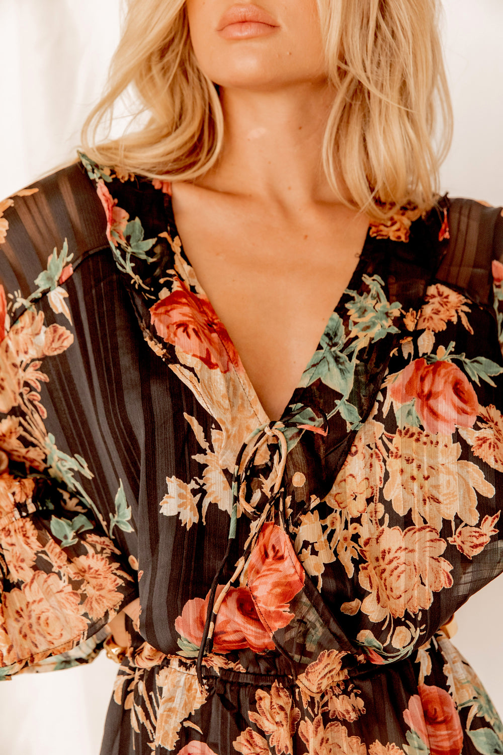 Spanish Romance Floral Mini Dress