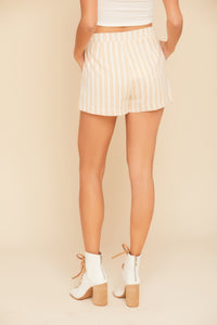 Tan Striped Short