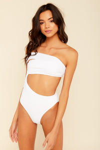 Mila White Strappy One Piece
