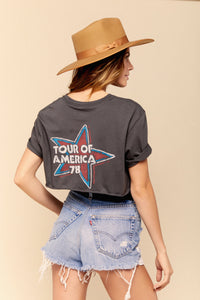 Tour of America '78 Rolling Stones Crop Tee