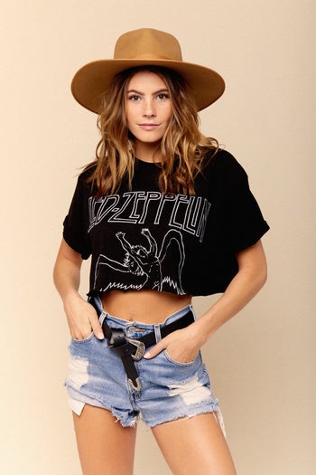 Classic Led Zeppelin Crop Tee