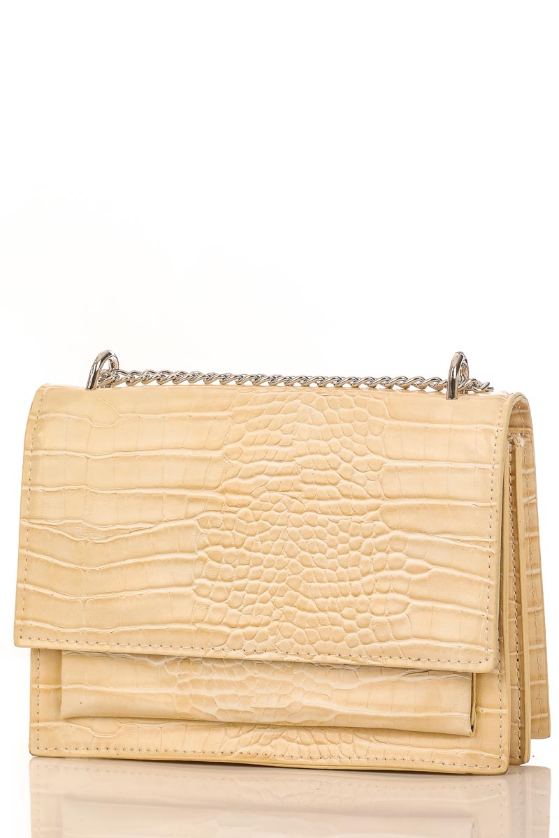 Meg Beige Chain Crossbody