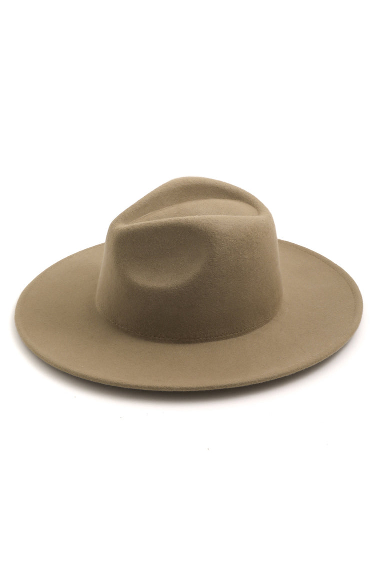 Tegan Tan Wide Brim Hat