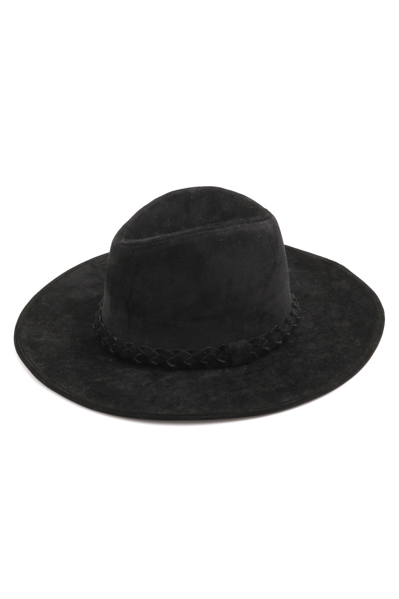 Dana Black Wide Brim Hat