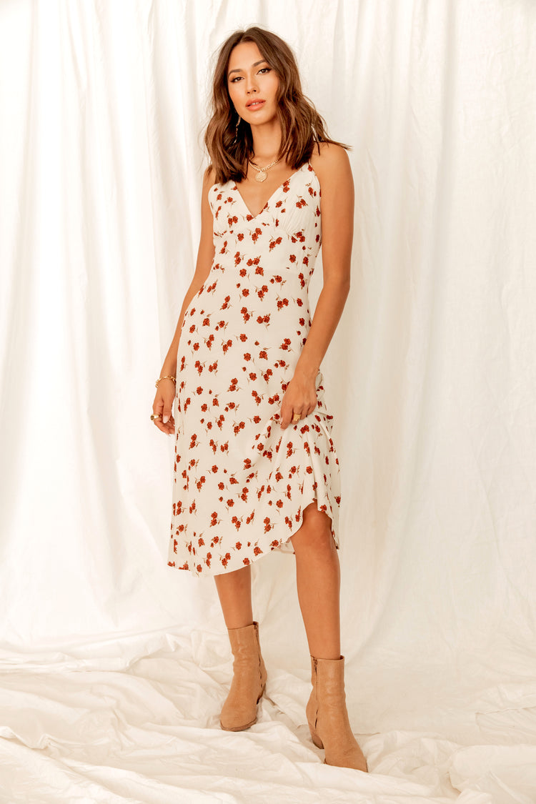 Something About You Floral Midi Dress