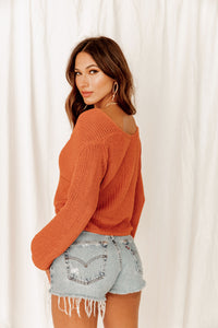 Every Little Thing Front Knot Sweater