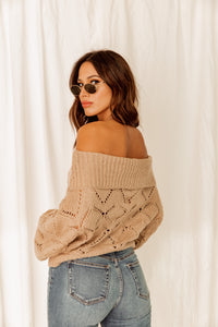 Canyon Sunrise Off the Shoulder Sweater