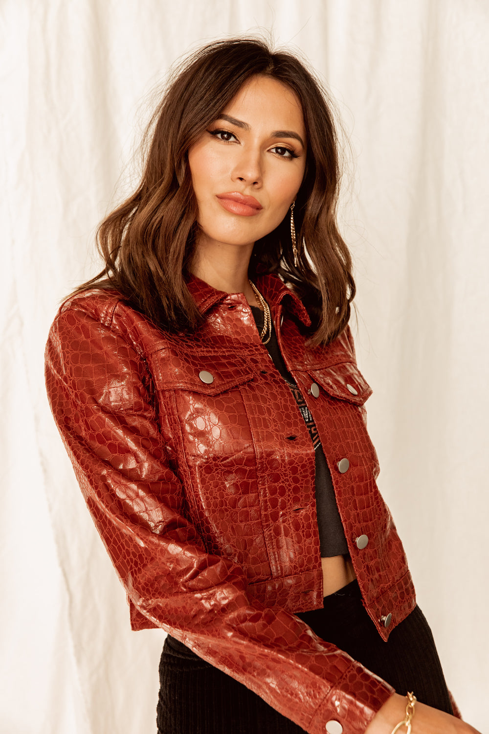 Smith Snakeskin Vegan Leather Jacket
