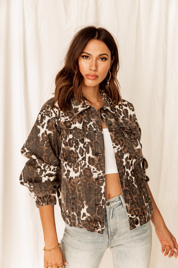 Jackson Leopard Denim Jacket