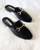 Billini Olivia Black Croc Slide