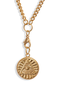 Fiona Pyramid Medallion Necklace