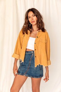 Not Your Boyfriend's Mustard Corduroy Jacket