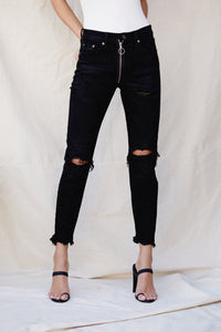 Nico High Rise Button Jeans