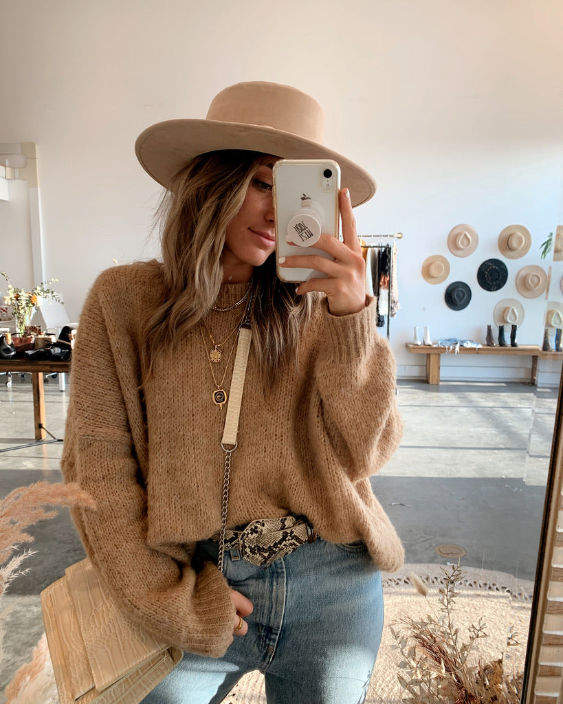 Montana Camel Sweater