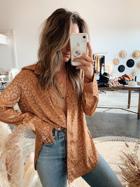 Gold Rush Leopard Blouse