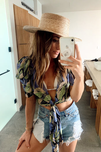 Byron Bay Crop Wrap Top