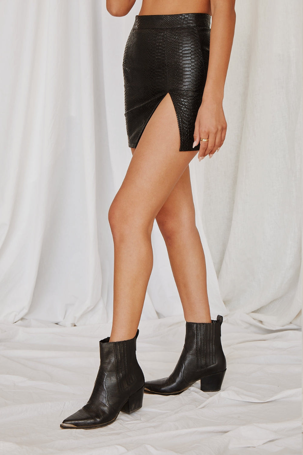 Dance In The Dark Black Mini Skirt