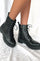 Ella Black Combat Boot