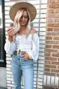 Gran Blanco Off The Shoulder Top