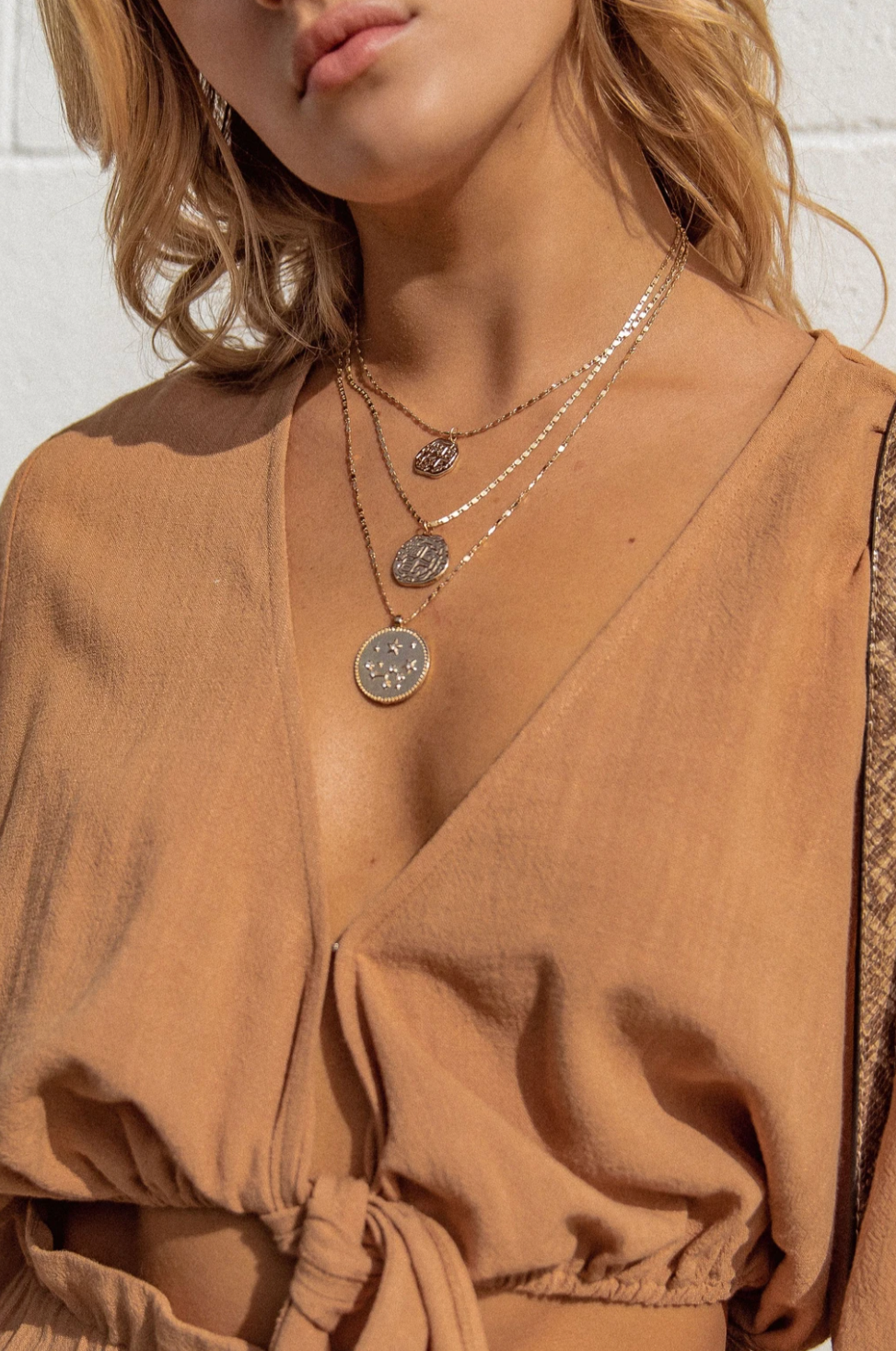 Look Up At The Stars Layered Coin Necklace