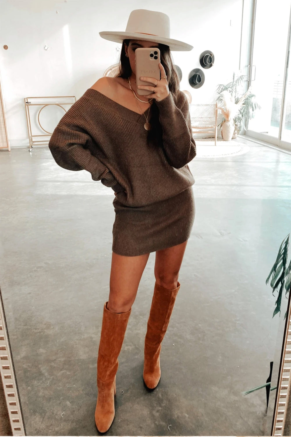 Lucca Long Sleeve Sweater Dress