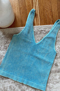 Allie Blue Cropped Tank