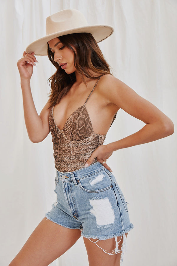 Sweet Nothing Snakeskin Bodysuit