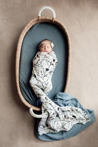 Pop Ya Tot - Bluebird - 100% Organic Cotton Swaddle - Eco Child