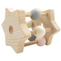 Hess-Spielzeug Rattle Star Natural Pink - Eco Child