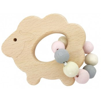 Hess-Spielzeug Rattle Sheep - Natural Pink - Eco Child
