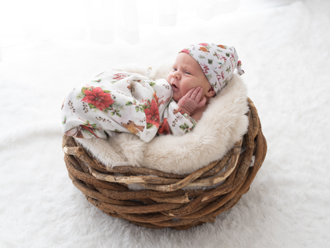 Kute Cuddles - Christmas Joy - Luxe Bamboo Swaddle - Eco Child