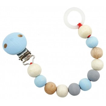 Hess-Spielzeug Pacifier Chain Natural Blue  Dummies & Dummy Chains, dummy-chains, Hess-Spielzeug Dummy Chains Axis Toys Natural dummy chain Eco friendly dummy chain Eco Natural Non toxic Sustainable