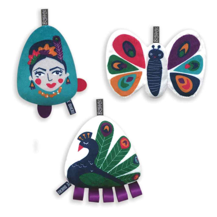 OB Designs - 3 Piece Set Toy Set -  Peacock Paradise