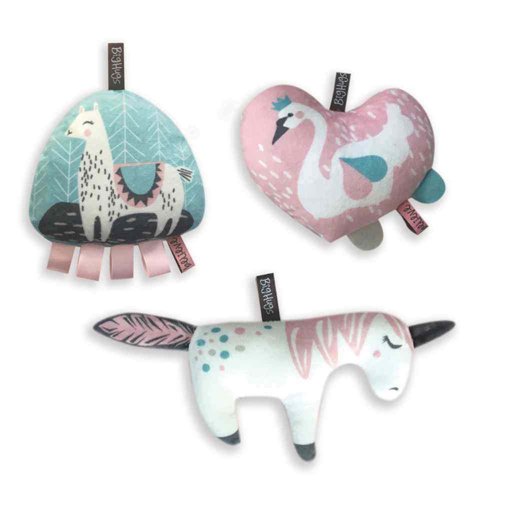 OB Designs - 3 Piece Set Toy Set -  Sweet Romance - Eco Child