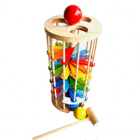 Qtoys -  Pound a Ball Tower - Eco Child