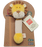 MiYim - 100% Organic Cotton Stick Rattles - Lion