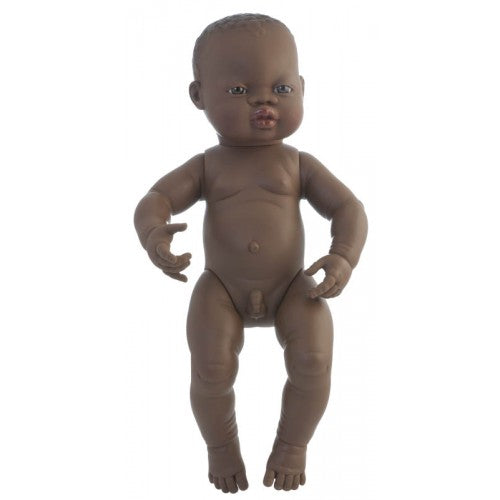 Miniland - Anatomically Correct Baby Doll 40cm - African Boy ( Undressed )